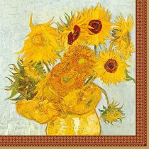 Dekorszalvéta - Vase With Twelve Sunflowers