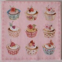 Dekorszalvéta - Cupcakes - Muffin