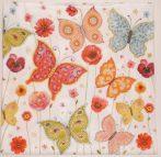 Dekorszalvéta - Virágok és Pillangók