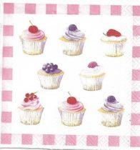 Dekorszalvéta - Cupcakes