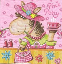Dekorszalvéta - Pink Pony