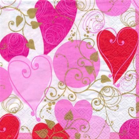 Dekorszalvéta - Szív