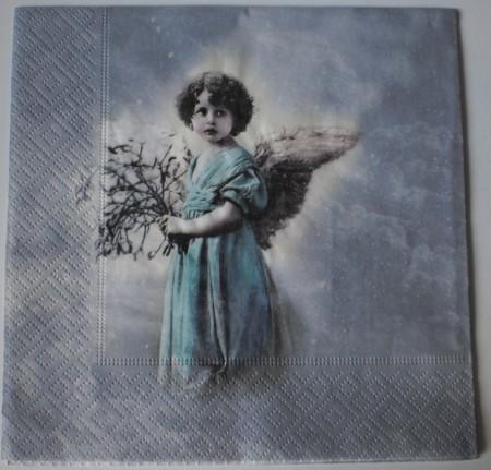 Dekorszalvéta - Angel Flowers