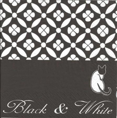Szalvéta - Black & White