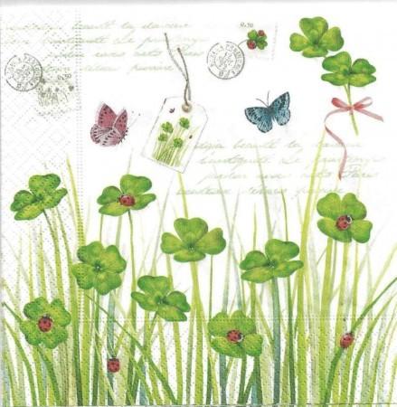 Dekorszalvéta - Cloverleaf & Ladybug